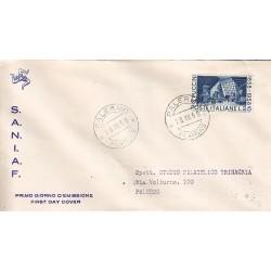 FDC ITALIA 1958 S.A.N.I.A.F. - 833 - Centenario della nascita di Giacomo Puccini - Annullo Palermo
