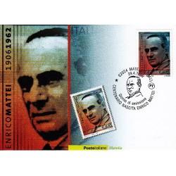 FDC ITALIA 2006 Cartolina Poste Italiane Unif. 2946  Enrico Mattei AS