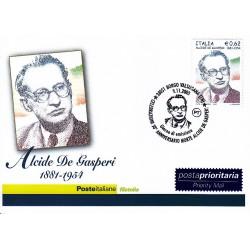 FDC ITALIA 2005 Cartolina Poste Italiane Unif. 2895 Alcide De Gasperi