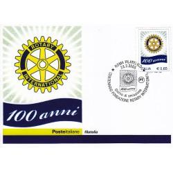FDC ITALIA 2005 Cartolina Poste Italiane Unif. 2847 Rotary International