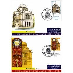 FDC ITALIA 2004 Cartolina Poste Italiane Unif. 2801/2 Tempio Maggiore Roma