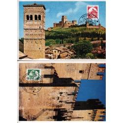 FDC ITALIA 1991 Cartolina Roma Unif. 1979/80 Castelli D'Italia bobina A/PA