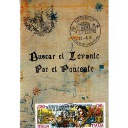 FDC ITALIA 1991 Cartolina Roma Unif. 1977/8 Scoperta dell'America A/PA
