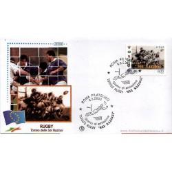 FDC ITALIA 2000 Filagrano Unif. 2487 Regby 6 Nazioni AS/Roma