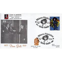 FDC ITALIA 1977 Grolla Club Unif. 1398 Dina Galli A/S