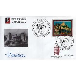 FDC ITALIA 1977 Grolla Club Unif. 1372 Propaganda Turistica Canosa