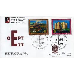 FDC ITALIA 1977 Grolla Club Unif. 1370/1 Europa CEPT A/S