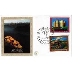 FDC ITALIA 1977 Filagrano Gold Unif. 1370/1 Europa CEPT A/Campobasso
