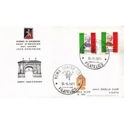 FDC ITALIA 1971 Grolla Club Unif. 1149/50 25° Anniversario Repubblica A/Speciale APG