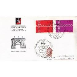 FDC ITALIA 1971 Grolla Club Unif. 1147/8 Europa CEPT A/Speciale APG