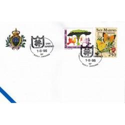 FDC SAN MARINO Marcofilia Annullo Speciale 01/08/1995 18° WORLD JAMBOREE AGES