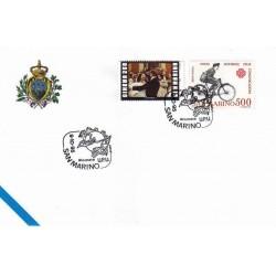 FDC SAN MARINO Marcofilia Annullo Speciale 09/10/1995 giornata U.P.U.