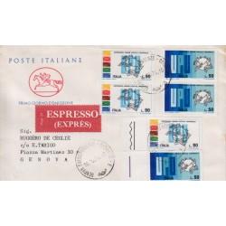 FDC ITALIA 1974 Poste Italiane Cavallino Unif. 1271/72 UPU raccomandata