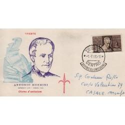 FDC ITALIA 1955 Tergesta Unif. 781 Antonio Rosmini Annullo Trieste