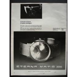 Pubblicità Advertising 1966 orologi Eterna Matic 3000