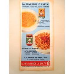 Pubblicità Advertising 1960 alimentari Althea