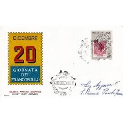 FDC ITALIA 1959 RODIA Unif. 879 - Giornata della Filatelia a/s ROMA