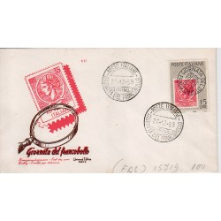 FDC ITALIA 1959 Universal Editrice Unif. 879 - Giornata della Filatelia A/S Roma