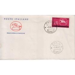 FDC ITALIA 1961 Cavallino Unif. 935 Giornata Del Francobollo Annullo Pavia