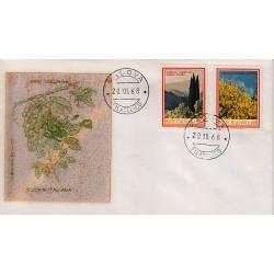 FDC ITALIA 1968 Filagrano Gold Unif. 1106/7 Flora 3° S. Annullo Padova