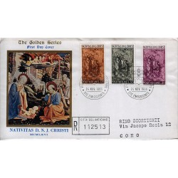 FDC VATICANO The Golden Series 1966 Natale raccomandata 1