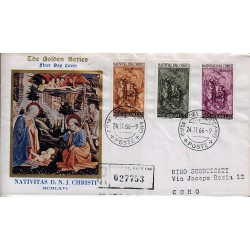 FDC VATICANO The Golden Series 1966 Natale raccomandata 2