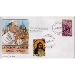 FDC VATICANO Roma 24/12/1966 Visita S.S. Paolo VI a Firenze