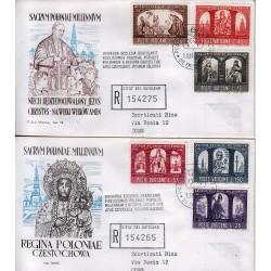 FDC VATICANO Roma 1966 Millenario Cattolico della Polonia raccomandata