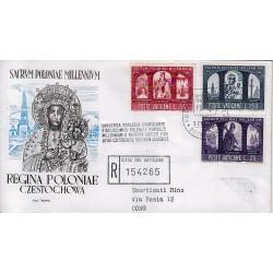 FDC VATICANO Roma 1966 Millenario Cattolico della Polonia raccomandata 1busta
