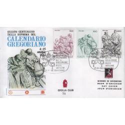 FDC VATICANO 1982 Grolla Unif. 716/18 Calendario Gregoriano