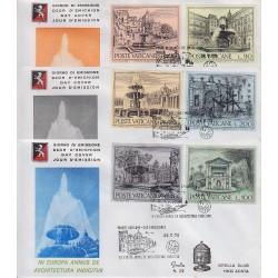 FDC VATICANO 1975 Grolla Unif. 575/80 Anno Europeo Fontane Città Vaticane