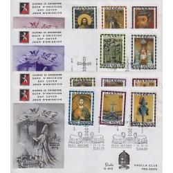 FDC VATICANO 1974 Grolla Unif. 564/74 Anno Santo 4 buste