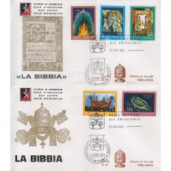 FDC VATICANO 1974 Grolla Unif. 553/57 Concorso Artistico La Bibbia