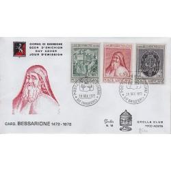 FDC VATICANO 1972 Grolla Unif. 529/31 Cardinale Bessario