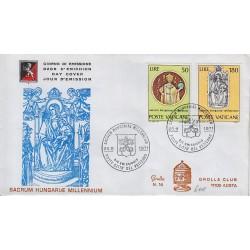 FDC VATICANO 1971 Grolla Unif. 513/4 Millenario di Santo Stefano