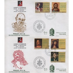 FDC VATICANO 1970 Grolla n°7 Unif. 487/91 Consacrazione di Paolo VI