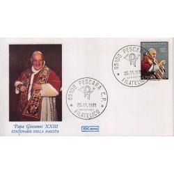 FDC Italia 1981 Roma Unif 1586 Papa Giovanni XXIII A/F Pescara