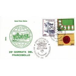 FDC Italia 1981 Rodia Unif 1587/9 23° Giornata del Francobollo A/S Livorno