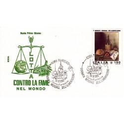 FDC Italia 1981 Rodia Unif 1581 1° Giornata Alimentazione A/S Roma