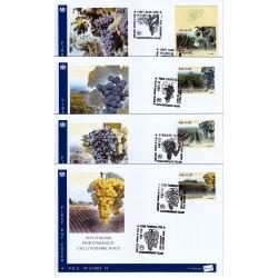 FDC - ITALIA Rep. NPE 37-a/q/2014 - 22/11/2014 3578 - il Vino DOCG 2014 - giro 15 buste con codice a barre