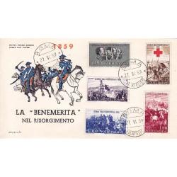 FDC ITALIA 1959 Italia 3 - 866 Centenario della II guerra d'Indipendenza a/Roma