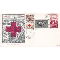 FDC ITALIA 1959 RE.RU. - 866 Centenario della II guerra d'Indipendenza a/Lecce 2 buste