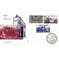 FDC ITALIA 1959 ALA - 866 Centenario della II guerra d'Indipendenza as/Magenta 2 buste