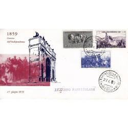 FDC ITALIA 1959 ALA - 866 Centenario della II guerra d'Indipendenza as/SAN MARTINO 2 buste
