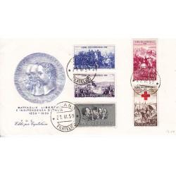 FDC ITALIA 1959 Editè par Capitolium - 866 Centenario della II guerra d'Indipendenza as/Pa VARIETA'