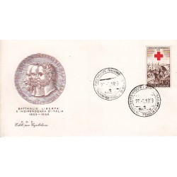 FDC ITALIA 1959 Editè par Capitolium - 866 Centenario della II guerra d'Indipendenza as/Magenta