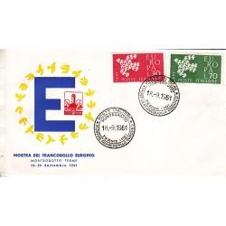 FDC ITALIA 1961 Circolo Filatelico Montegrotto- 932 - Europa CEPT - 6ª emissione Annullo Speciale Montegrotto v01