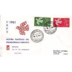 FDC ITALIA 1961 Privato - 932 - Europa CEPT - 6ª emissione Annullo Speciale Desio v01
