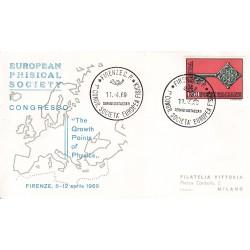 FDC ITALIA Marcofilia - annullo speciale 11/04/1969 FIRENZE C.P. - 1° CONGR. SOCIETA´ EUROPEA FISICA viaggiata