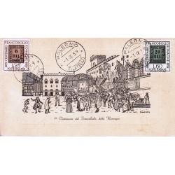 FDC ITALIA 1959 Araldo - 875 Centenario dei francobolli delle Romagne annullo Roma in raccomandata